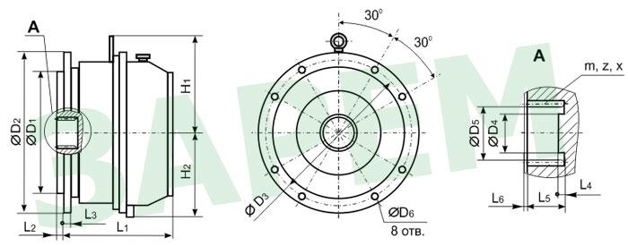 Мотор-редуктор планетарный
